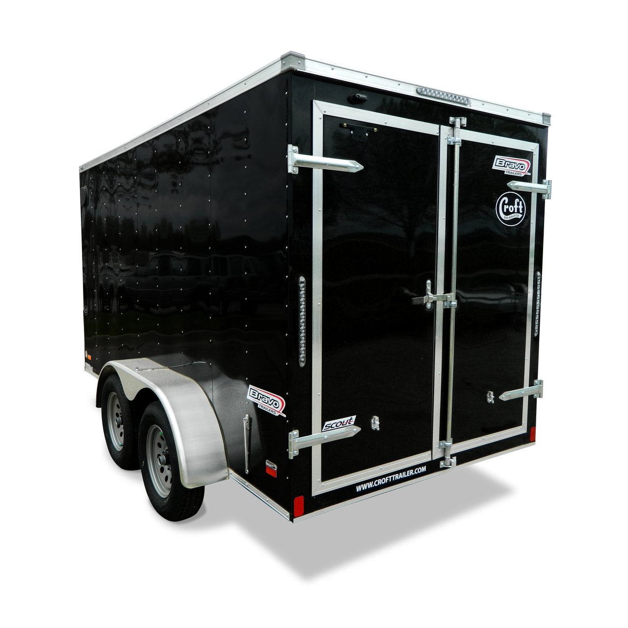 SC612TA2D --- 6' X 12' Enclosed Tandem Trailer with Double Rear Doors - Bravo