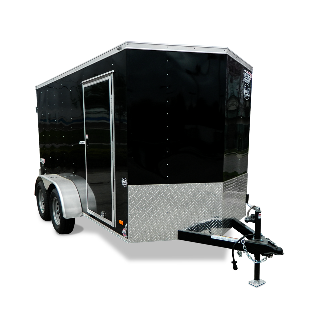 SC612TA2DRD --- 6' X 12' Enclosed Tandem Trailer with Ramp Door - Bravo