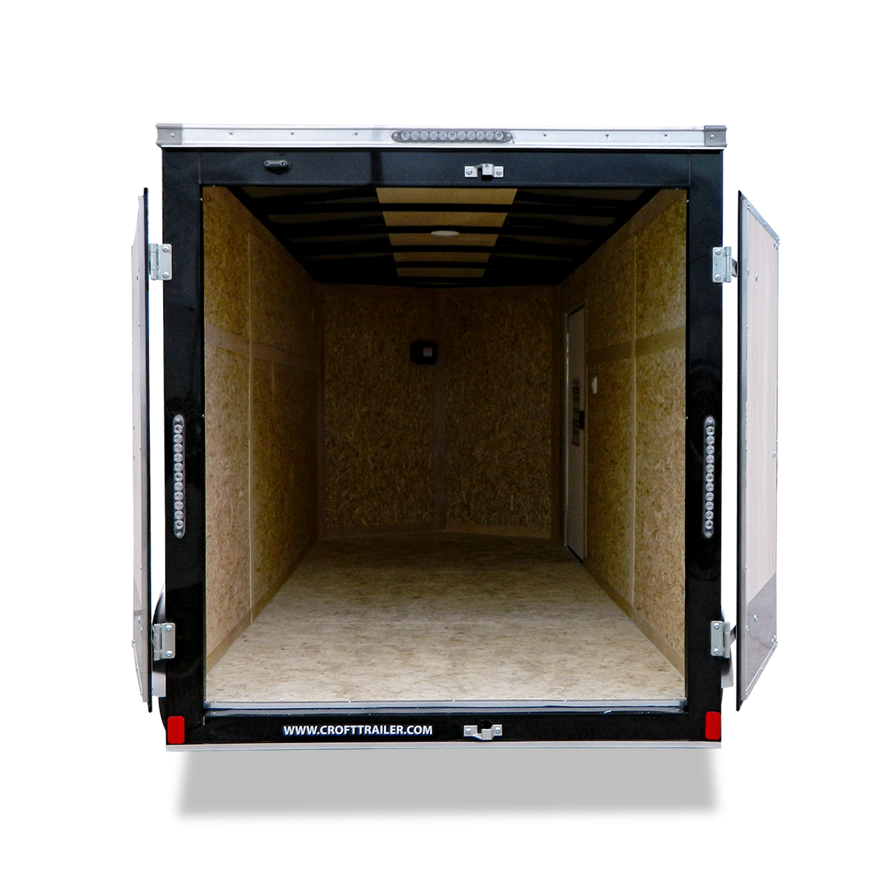 SC714TA2D --- 7' X 14' Enclosed Tandem Trailer with Double Rear Doors - Bravo