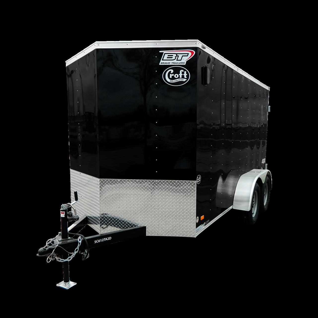 SC714TA2DRD --- 7' X 14' Enclosed Tandem Trailer with Ramp Door - Bravo