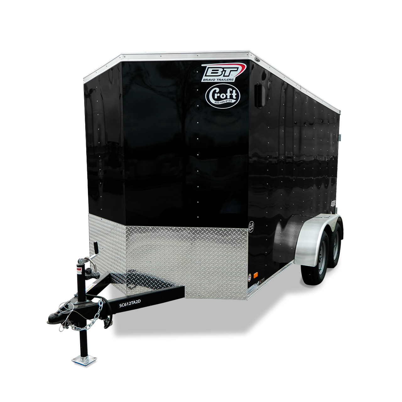 SC716TA2DRD --- 7' X 16' Enclosed Tandem Trailer with Ramp Door - Bravo