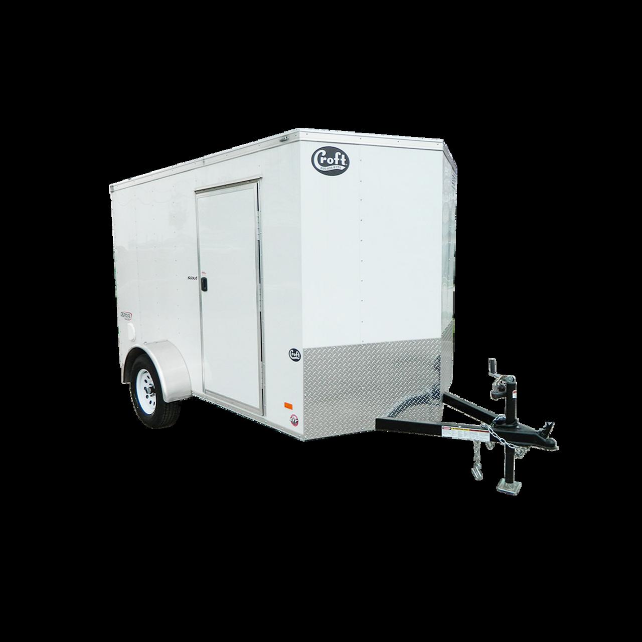 SC610SADRDGT --- 6' X 10' Enclosed Trailer with Ramp Door - Torsion - Bravo