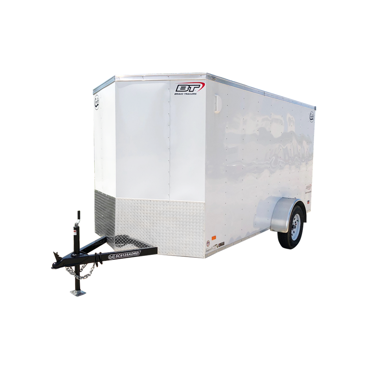 SC612SADGT --- 6' X 12' Enclosed Trailer with Double Rear Doors - Torsion - Bravo
