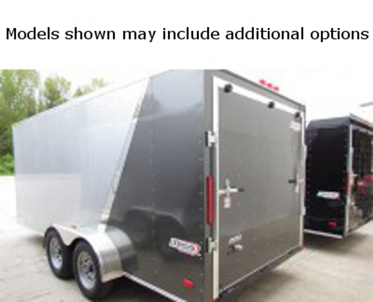 SC612TA2DSS --- 6' X 12' Enclosed Tandem Trailer with Double Rear Doors - Torsion - Bravo