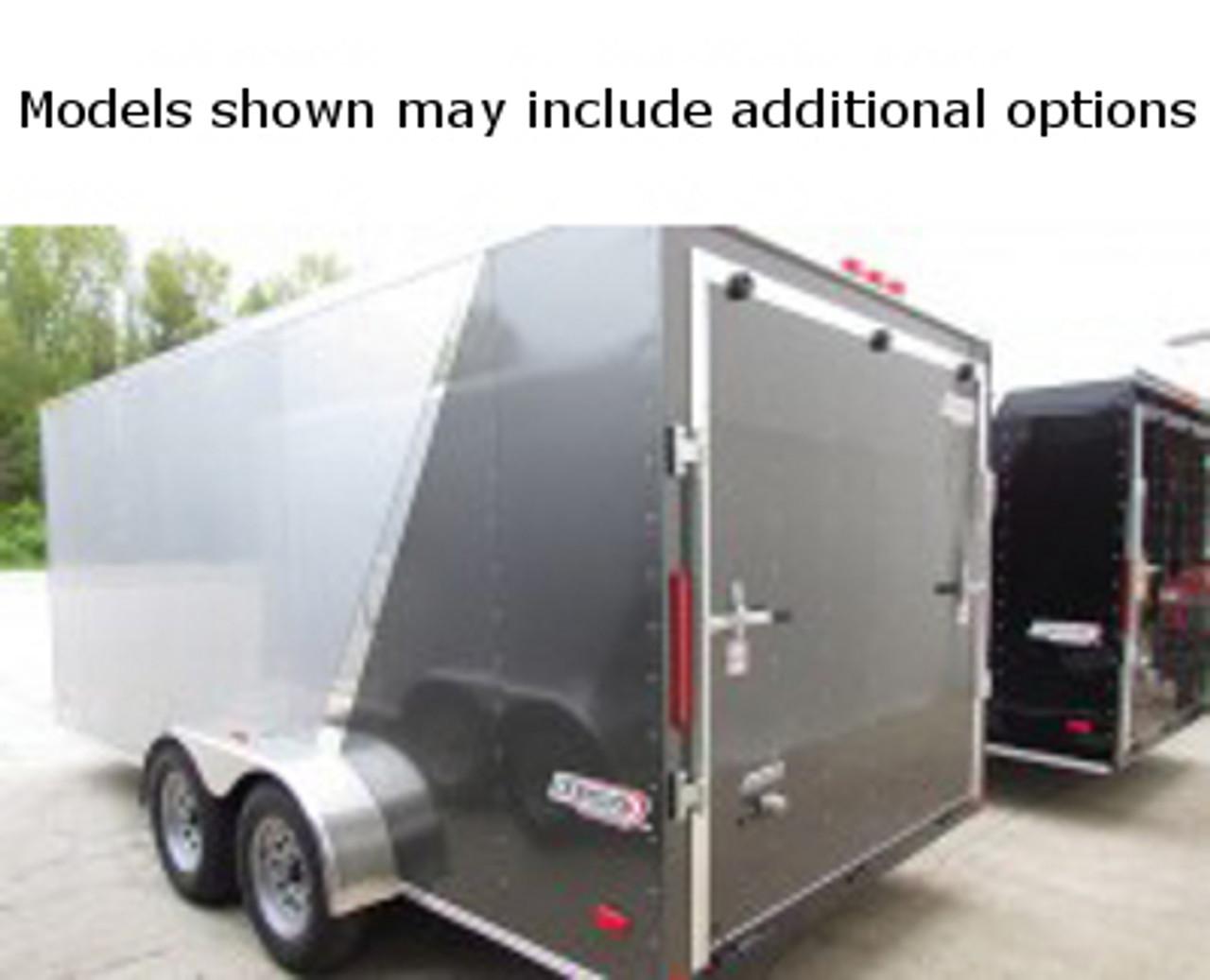 SC714TA2DSS --- 7' X 14' Enclosed Tandem Trailer with Double Rear Doors - Torsion - Bravo
