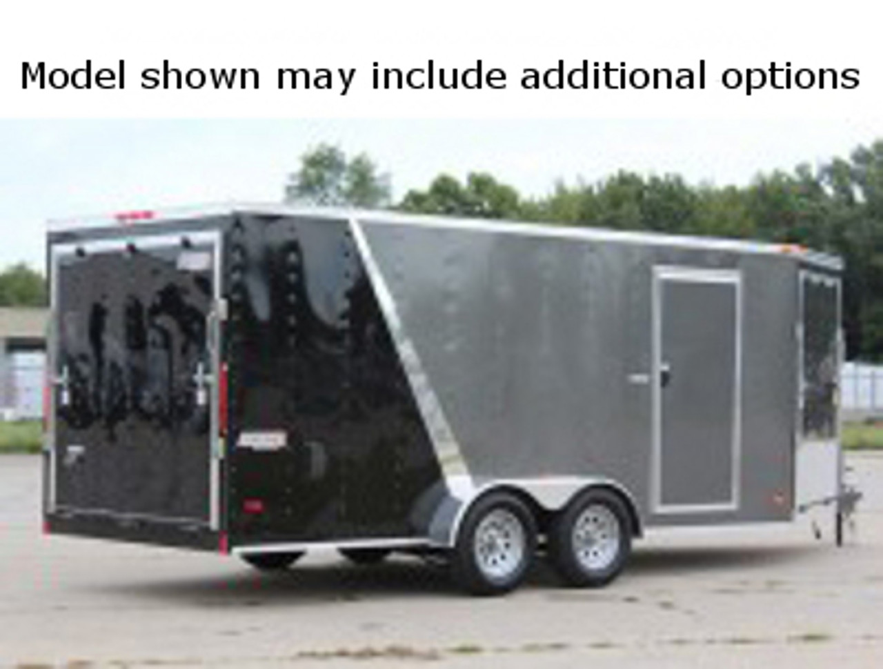 SC716TA2DRDSS --- 7' X 16' Enclosed Tandem Trailer with Ramp Door - Torsion - Bravo