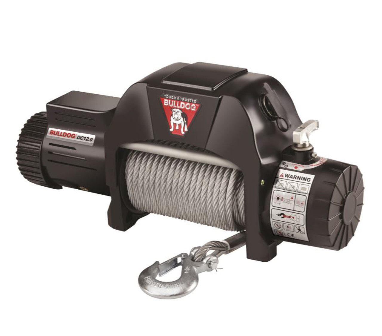 500601 --- BULLDOG DC Electric  Heavy Duty Winch, 12000 lb Capacity