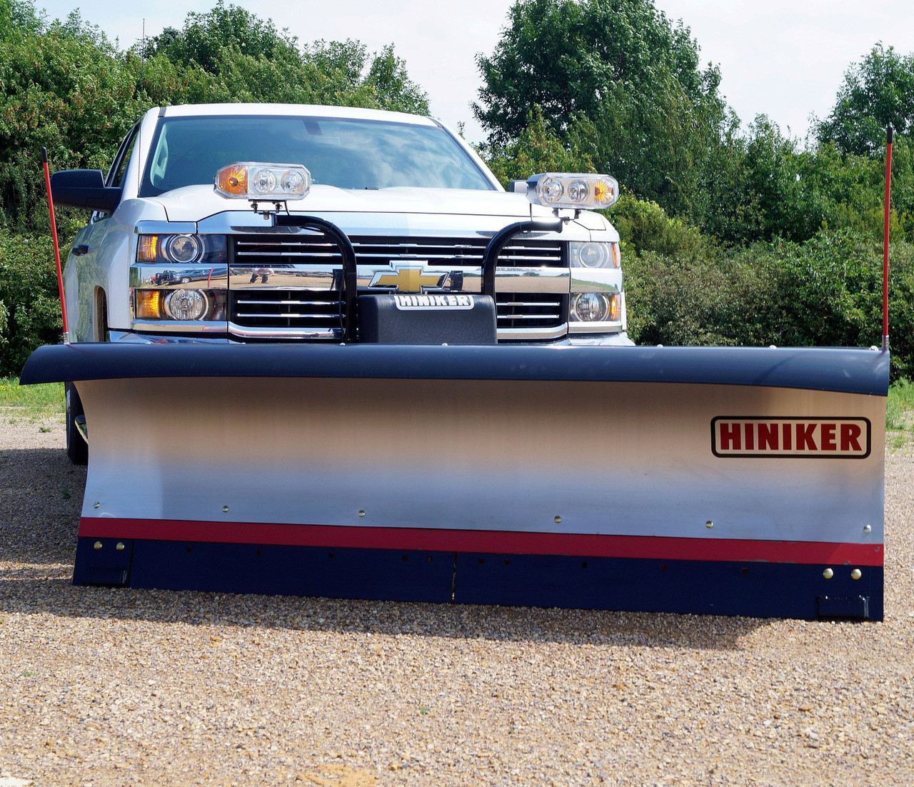 HN7812SS --- Hiniker Conventional Snow Plow 7000 Series - 8' - Stainless Steel