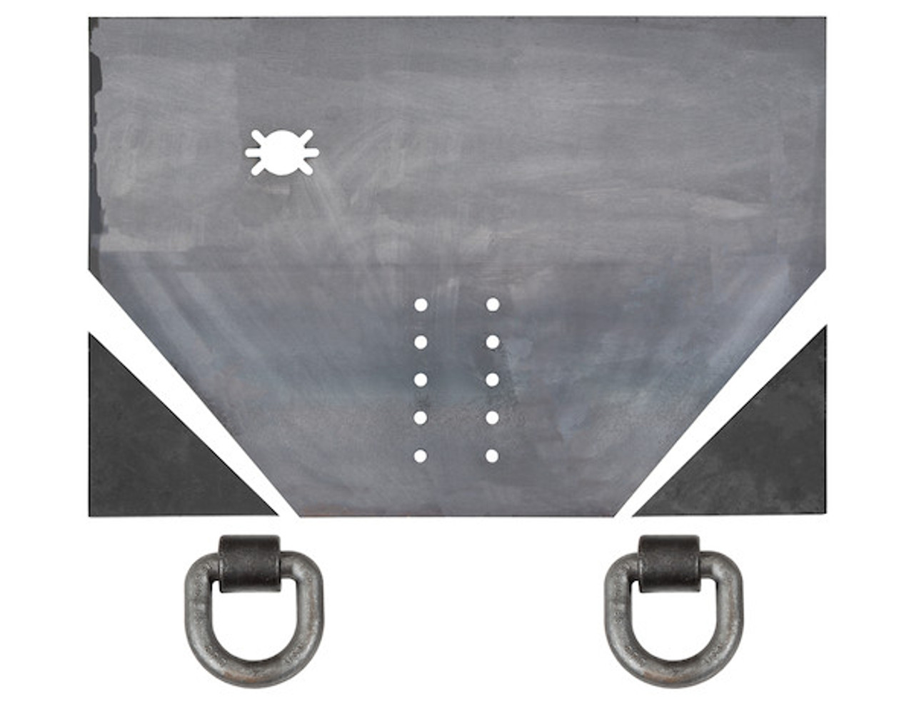 "1809027A --- 3/4"" Fabricators Hitch Plate with Pintle Hook Mounting Holes"