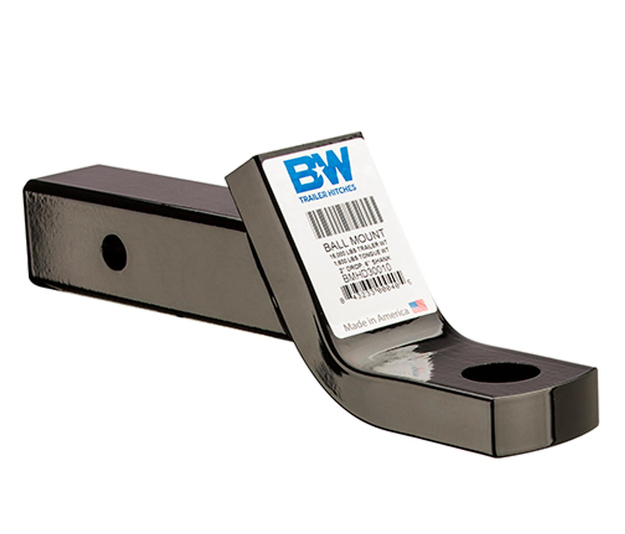 """BW30212 --- 2.5"""" Ball Mount -  4"""" Drop - 16,000 lb Capacity - Made in the USA"""