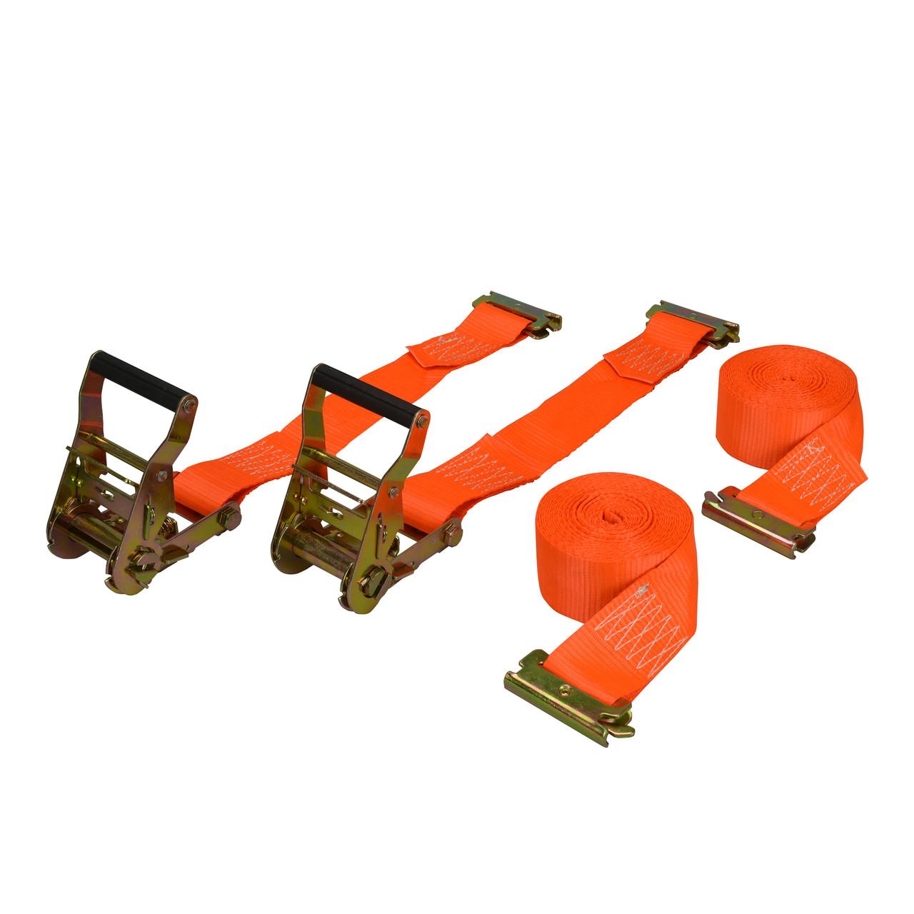 "CS899 --- E-Track/X-Track Ratchet Strap 2""x16' - 2 pack"