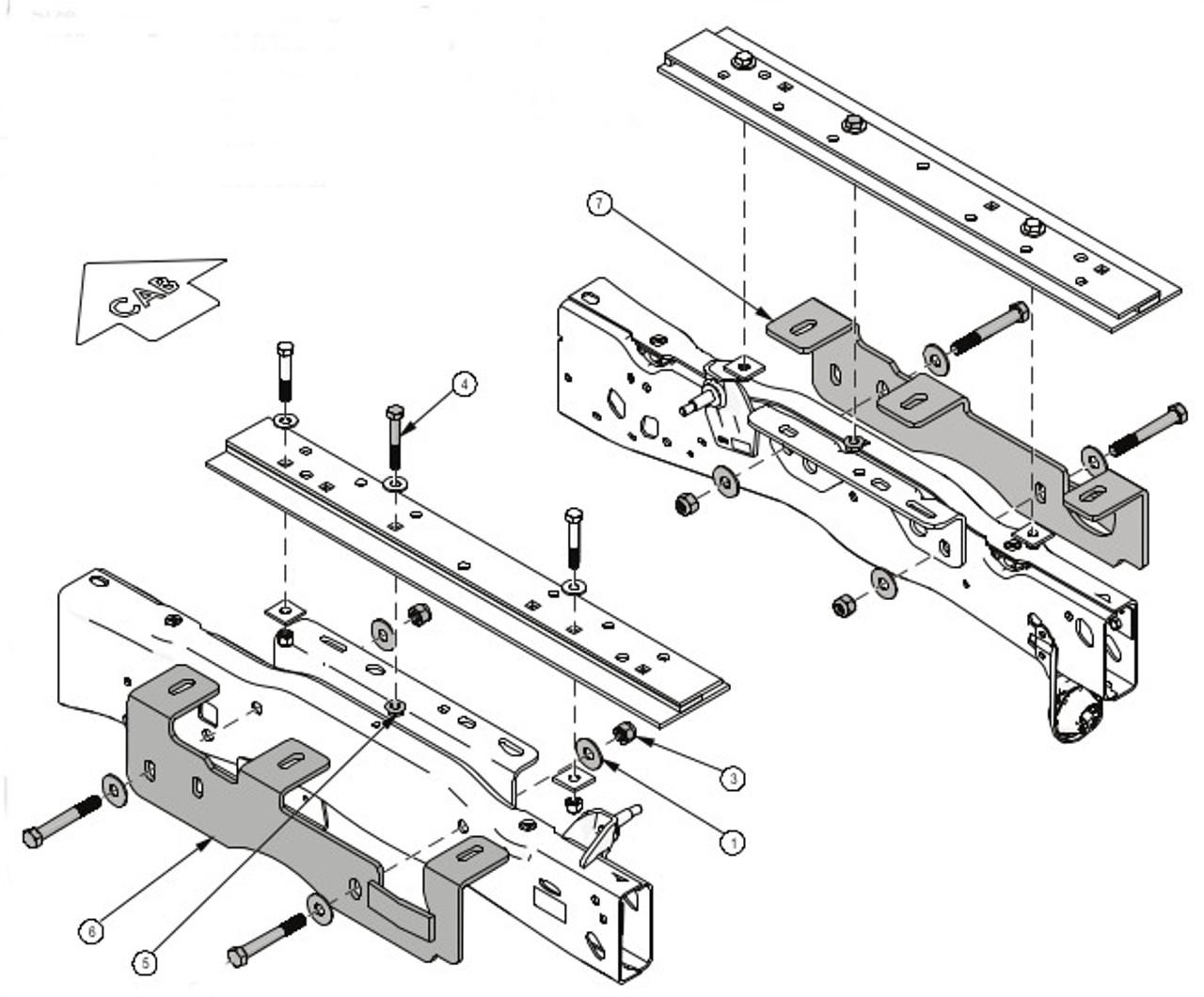 8553017 Demco Rail Kit