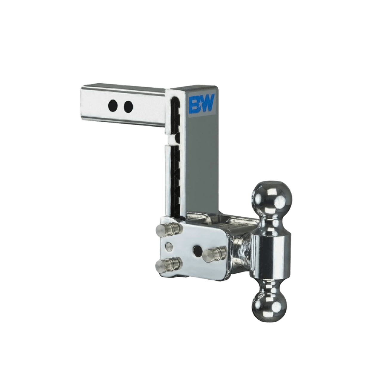 """BW10040C --- B&W 2"""" Shank Tow and Stow Adjustable Two Ball Mount, 7"""" Maximum Drop"""