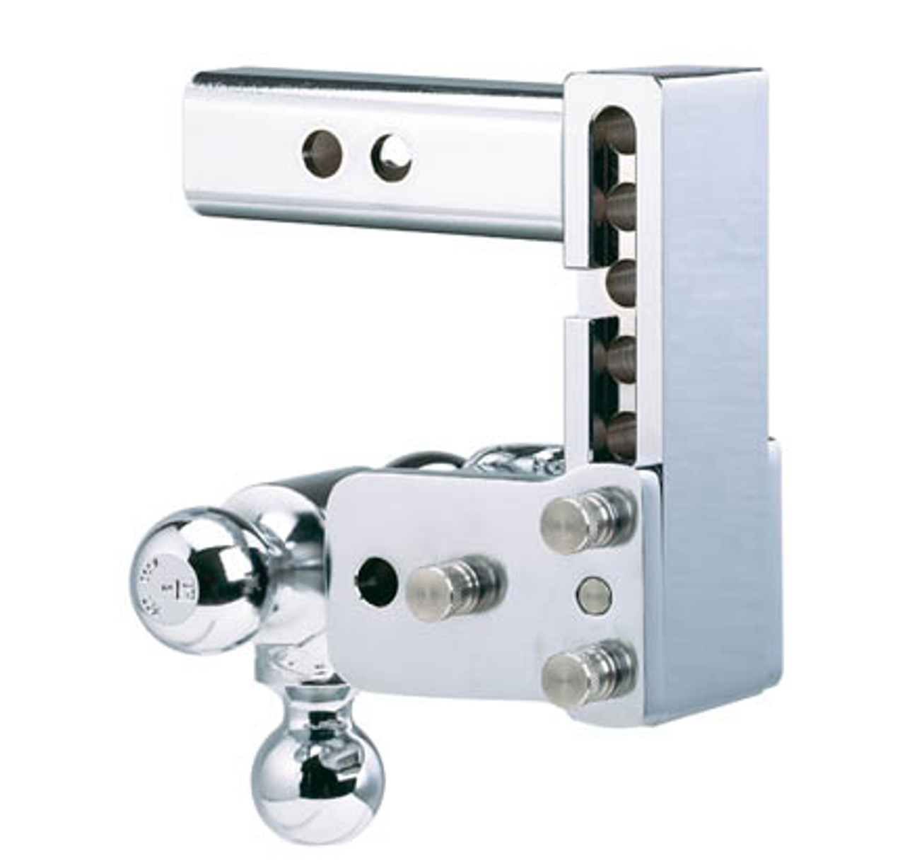 """BW20049C --- B&W 2.5"""" Shank Tow and Stow Adjustable Tri-Ball Mount, 7"""" Maximum Drop"""