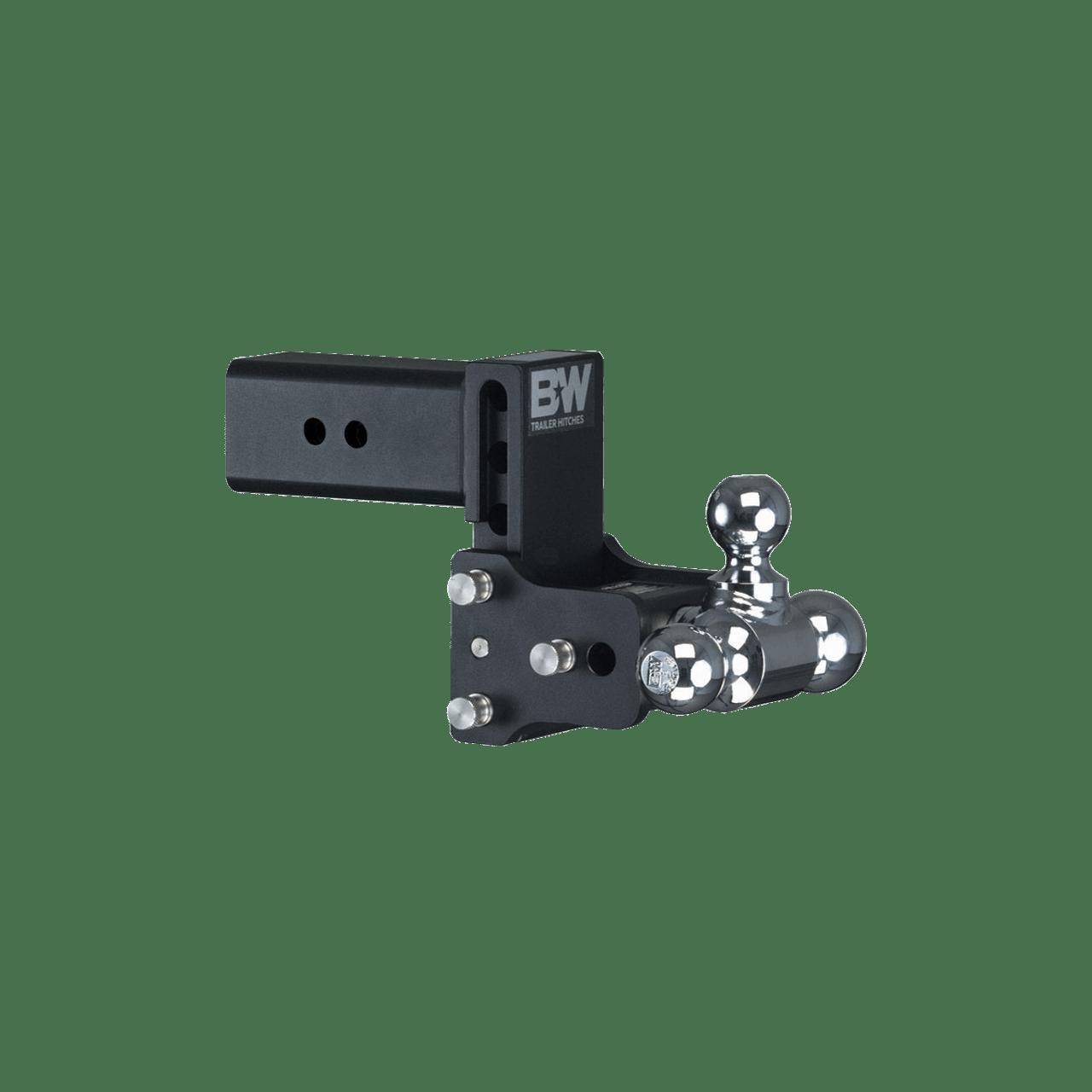 "BW30048B --- B&W 3"" Shank Tow and Stow Adjustable Tri-Ball Mount, 4.5"" Maximum Drop"