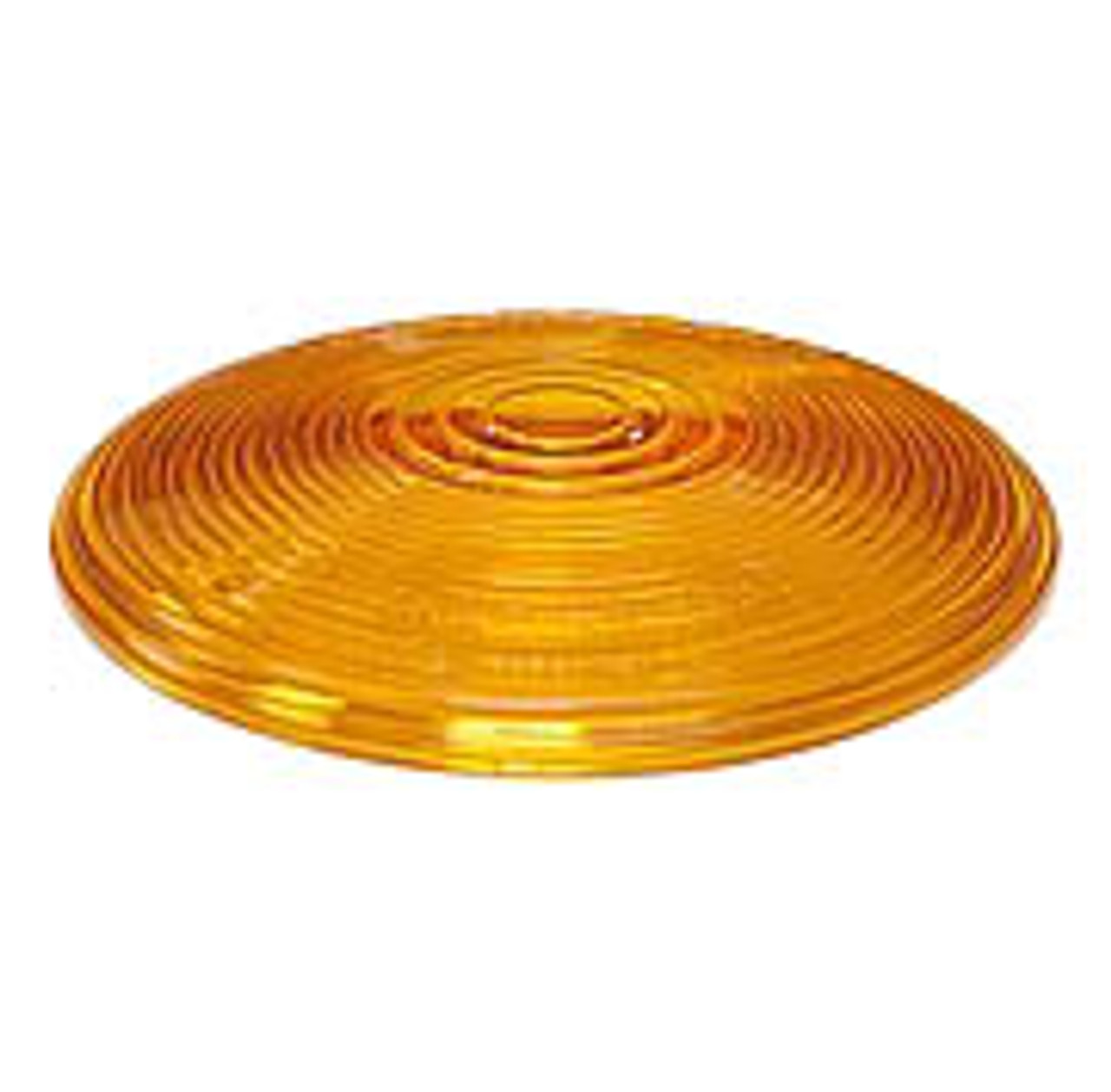 """410-15A --- Peterson Replacement 4"""" Amber Round Lens"""