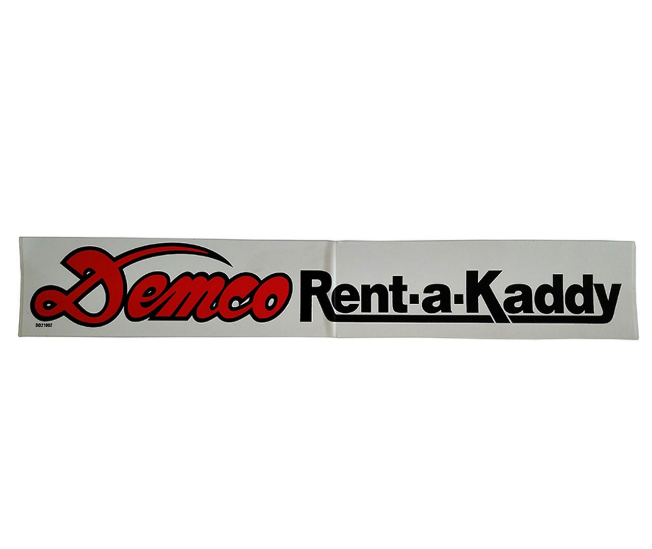 DD21002 --- Demco Rent-a-Kaddy Decal