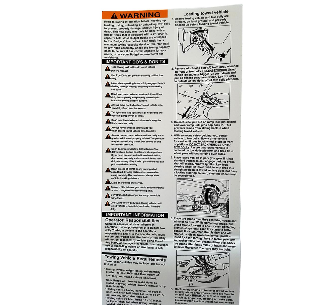 DD21008 --- Demco Rent-a-Kaddy Decal - Fender Instructions