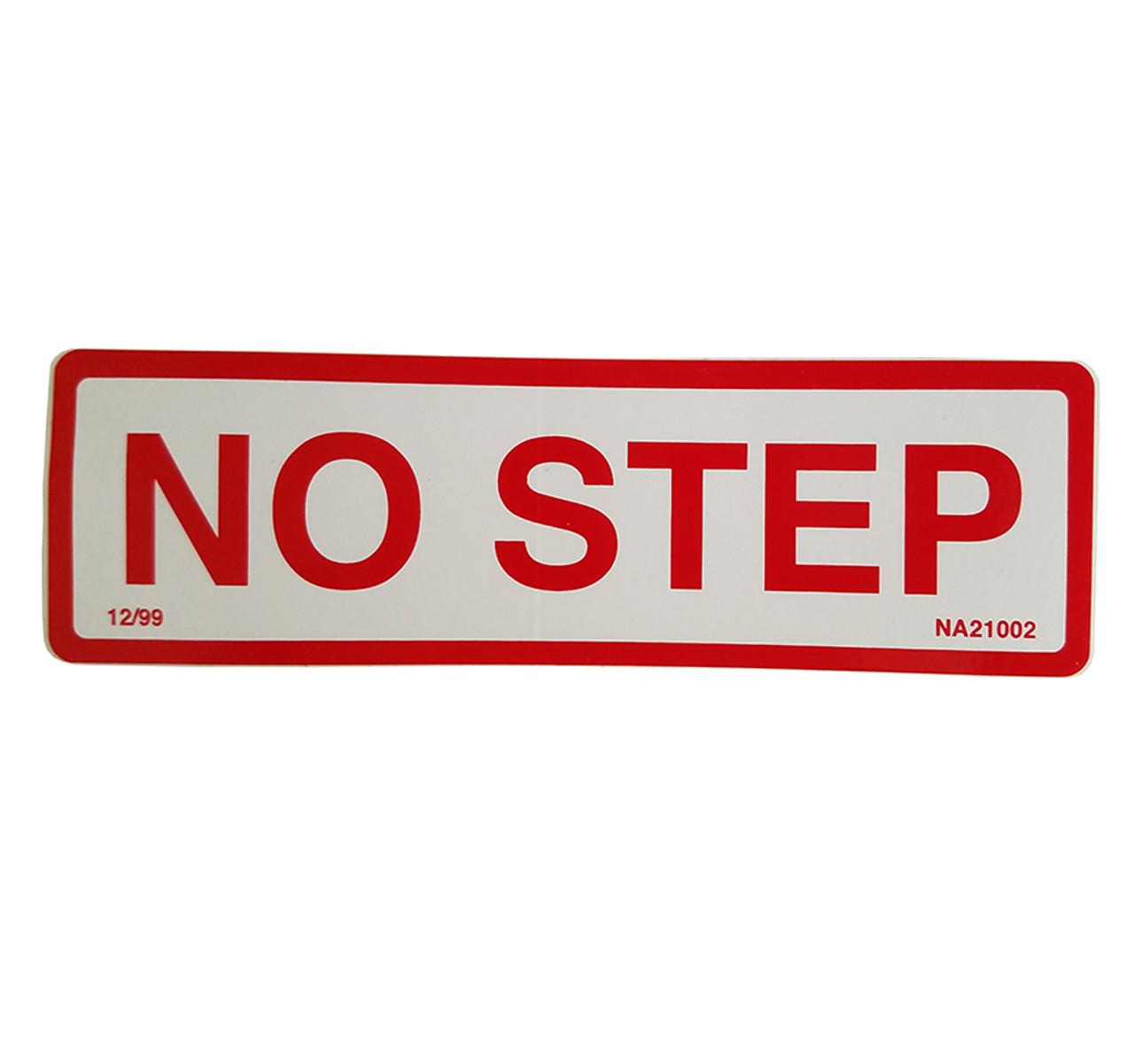 NA21002 --- Demco No Step Decal