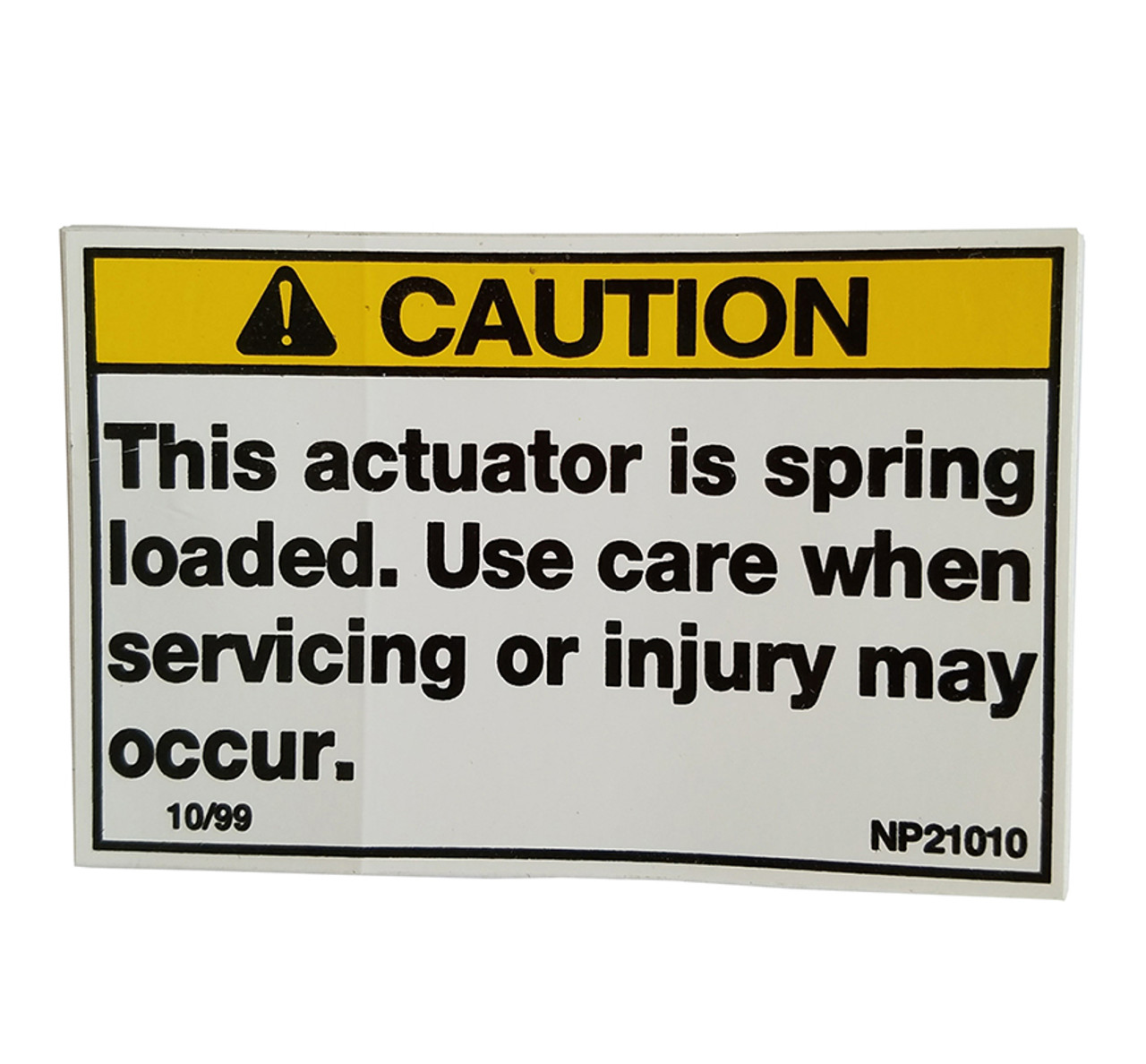 NP21010 --- Demco Actuator Spring Loaded Decal