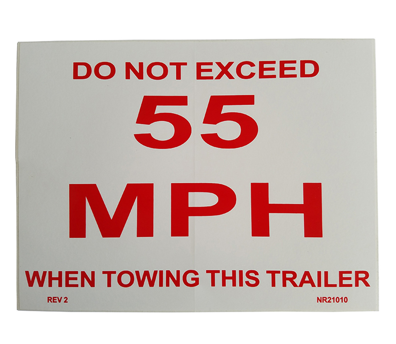 NR21010 --- Demco Do Not Exceed 55 MPH Decal
