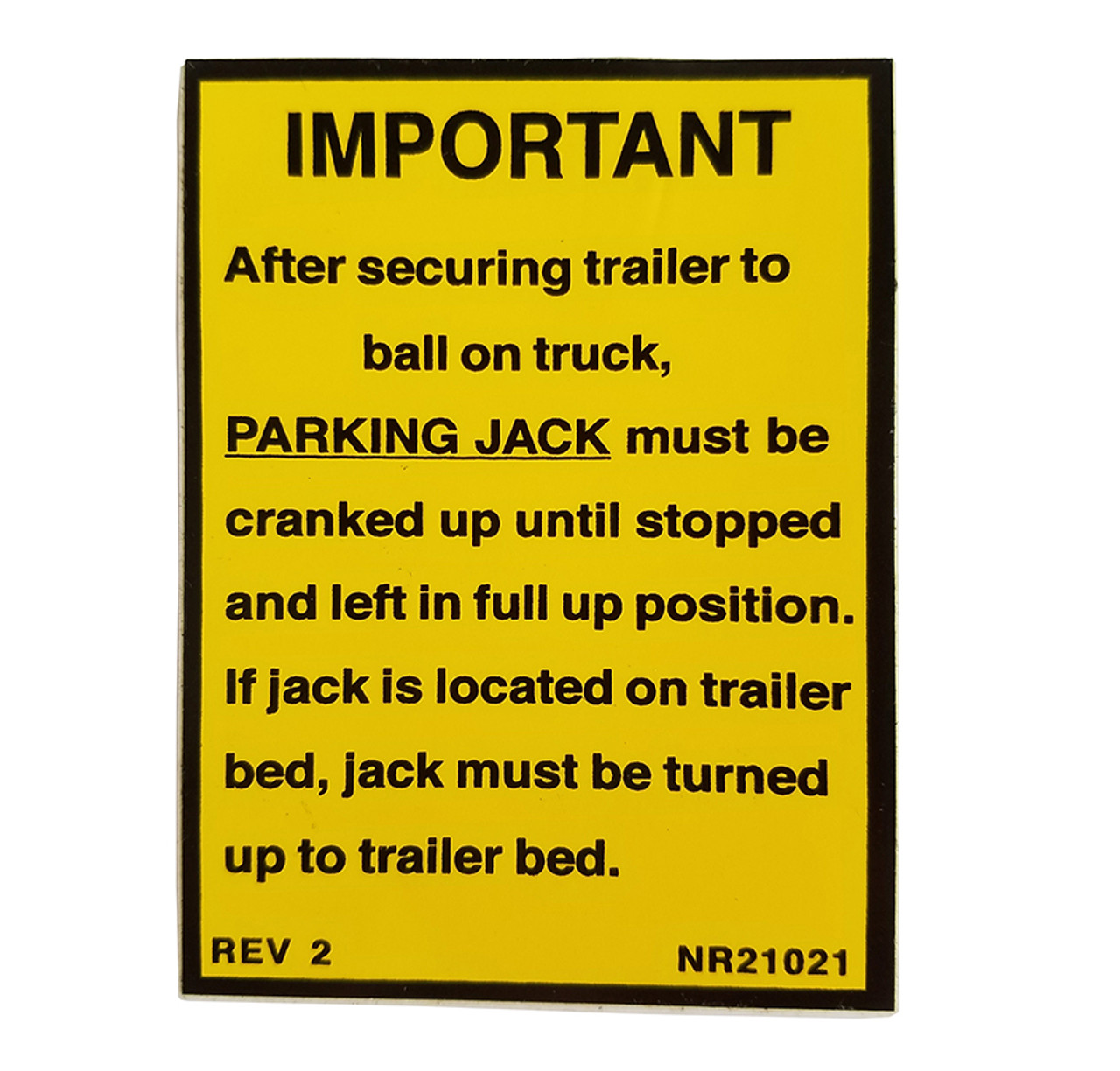NR21021 --- Demco Parking Jack Decal