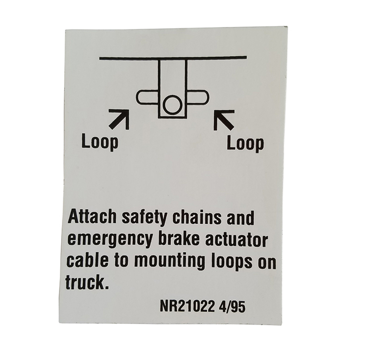 NR21022 --- Demco Attach Safety Chains Decal