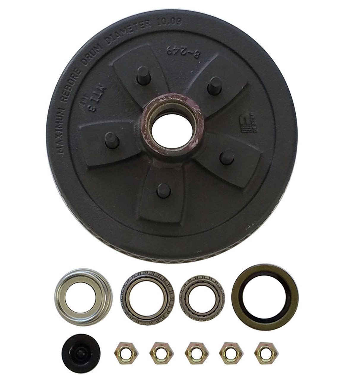 """1-550UHI-HDEZ --- 5 on 5"""" Hub and Drum Assembly for 10"""" - Ez Lube"""