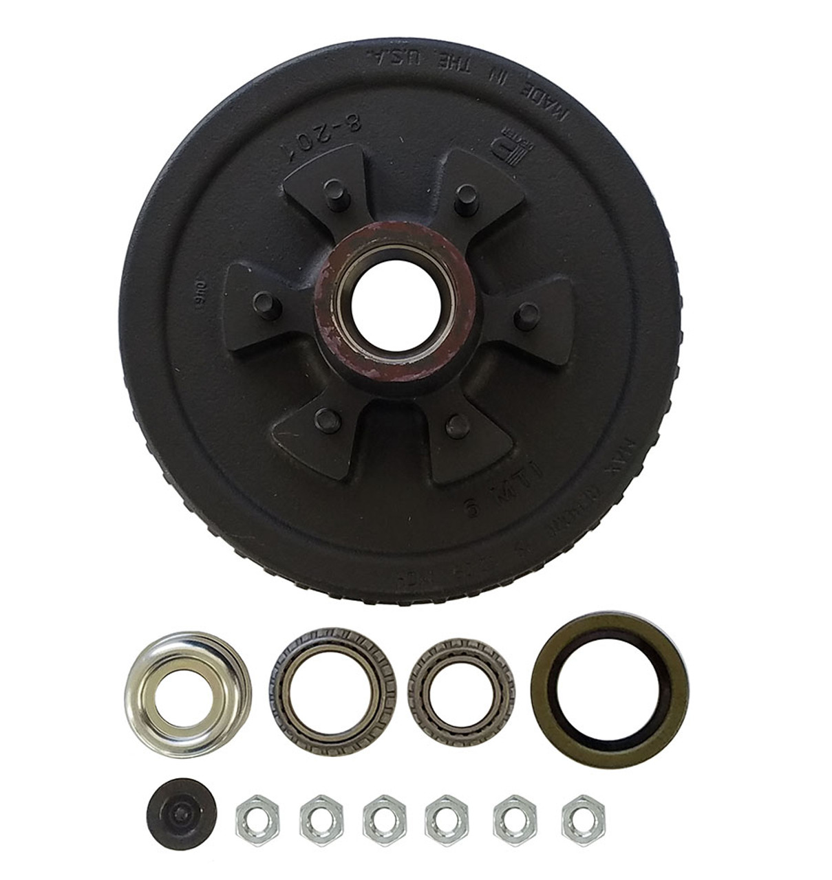 """1-42655HDEZ --- 6 on 5-1/2"""" Hub and Drum Assembly - 6,000 lb - Ez Lube"""