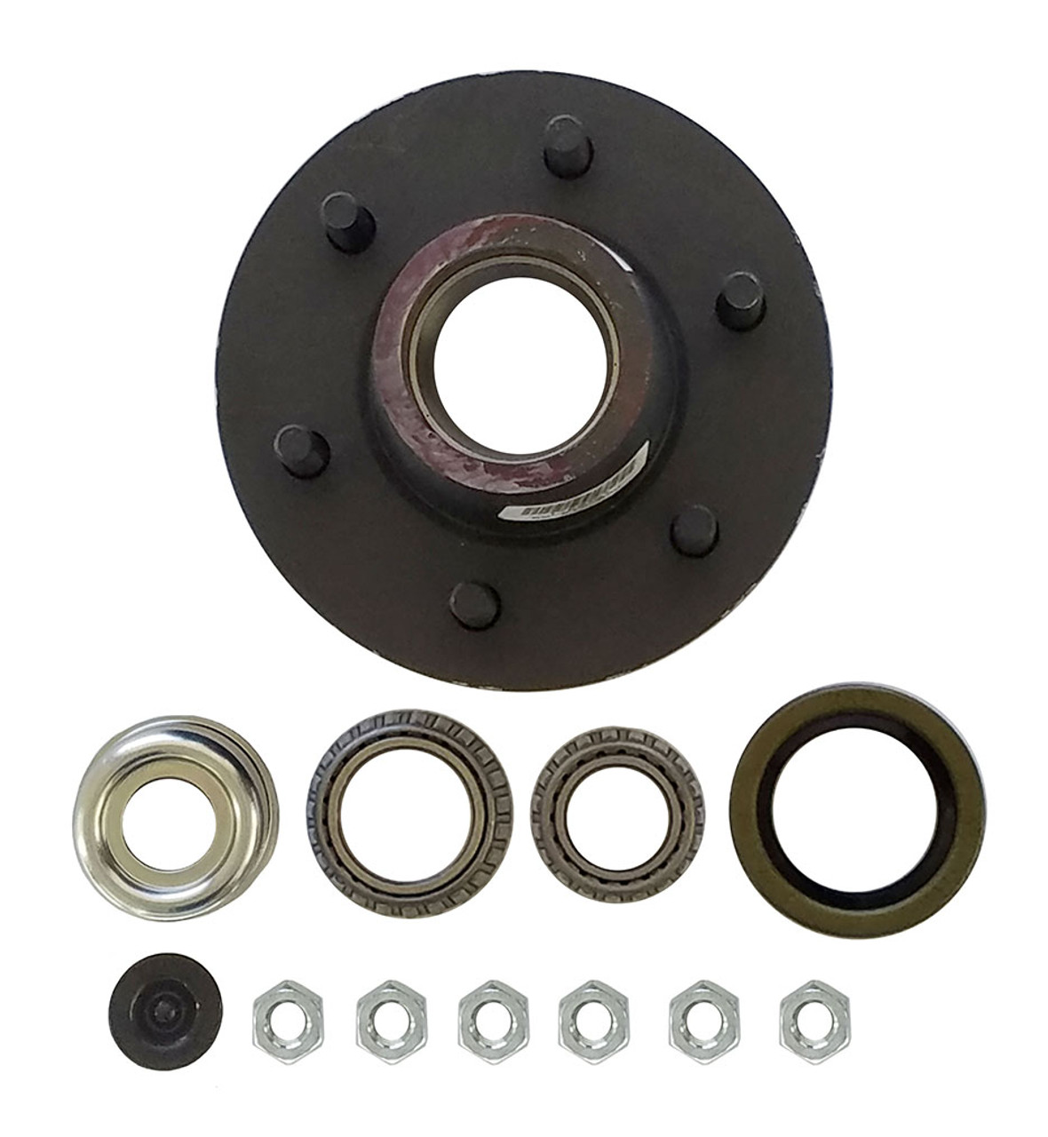 "1-42655EZ --- 6 on 5-1/2"" Hub Assembly - 6,000 lb - Ez Lube"