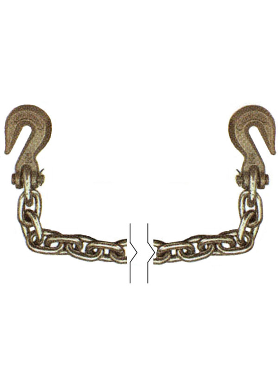 "G70516X20 --- 5/16"" Transport Chain Assembly with Clevis Grab Hooks on Both Ends - Grade 70"