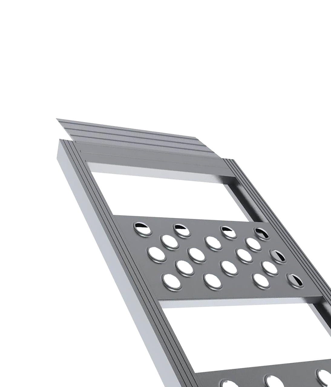 95150DT ---  Arched Aluminum Folding Loading Ramps