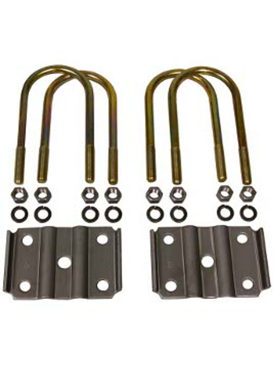 """USP3-65 --- 3"""" U-Bolts and Axle Plates for 1-3/4"""" Wide Springs"""