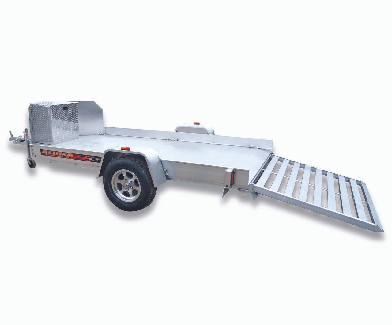 "ALUT12 --- 77"" x 151"" Aluminum ATV Trailer with Ramp Gate"