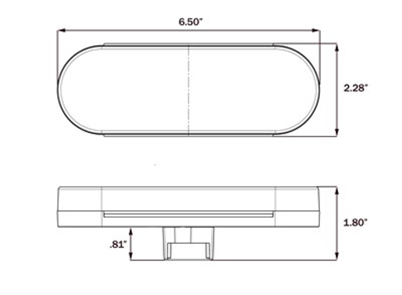 BUL602CRBP --- Oval Sealed LED Clear Back-Up Light with Tail Light