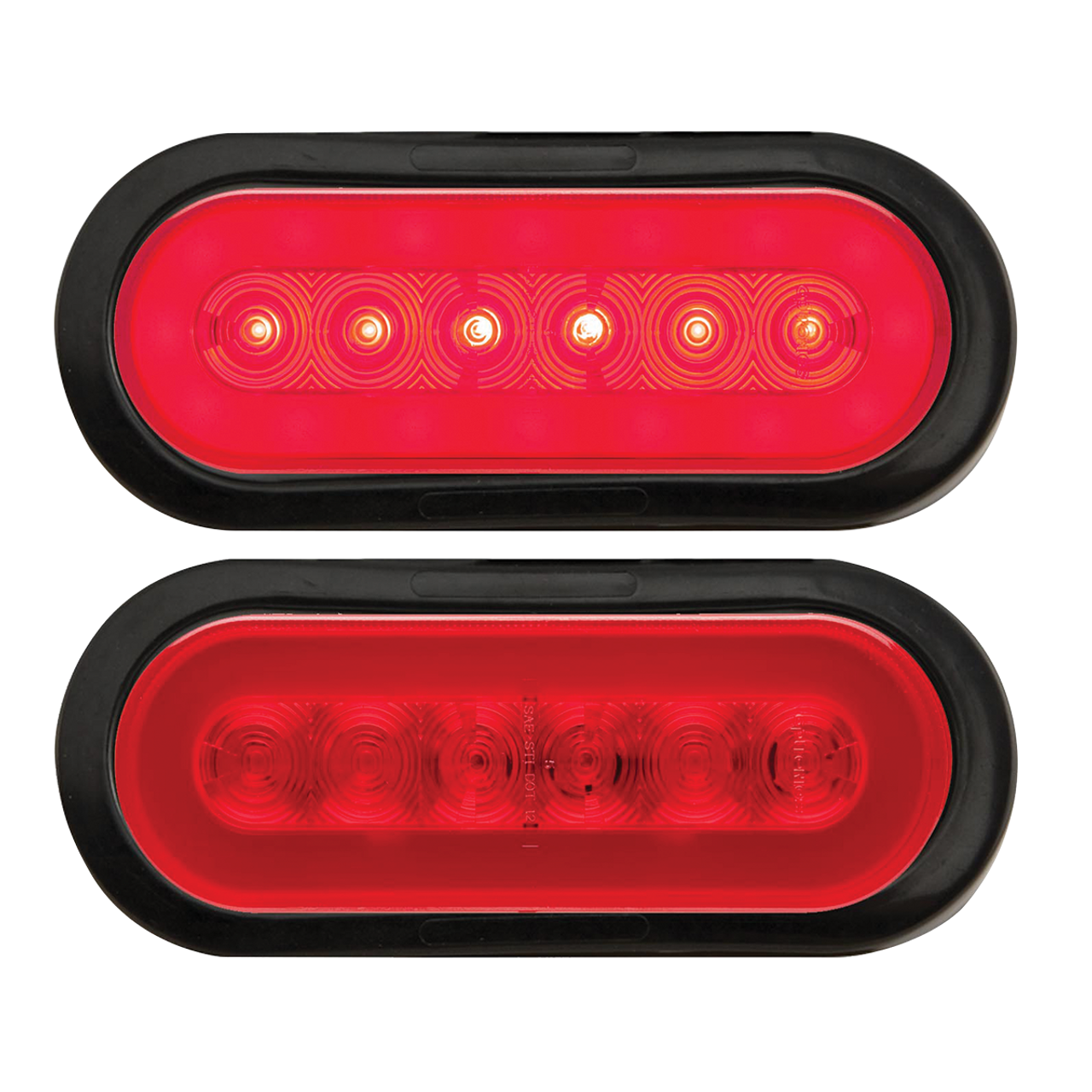 TLL112RK --- Glolight Oval Sealed LED Red Stop/Turn/Tail Light Kit