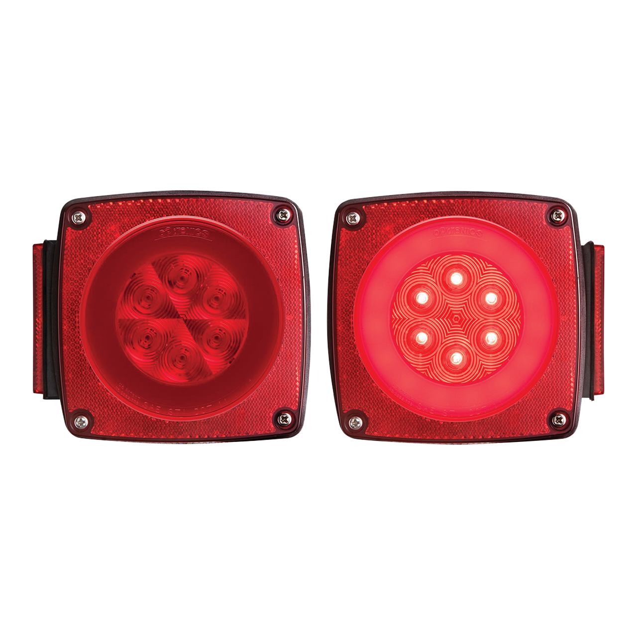 TLL190RK --- Glolight Square Sealed LED Red Stop/Turn/Tail Light Kit