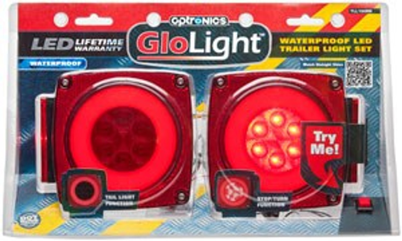 TLL190RK --- Glolight Square Sealed LED Red Stop/Turn/Tail Light Kit