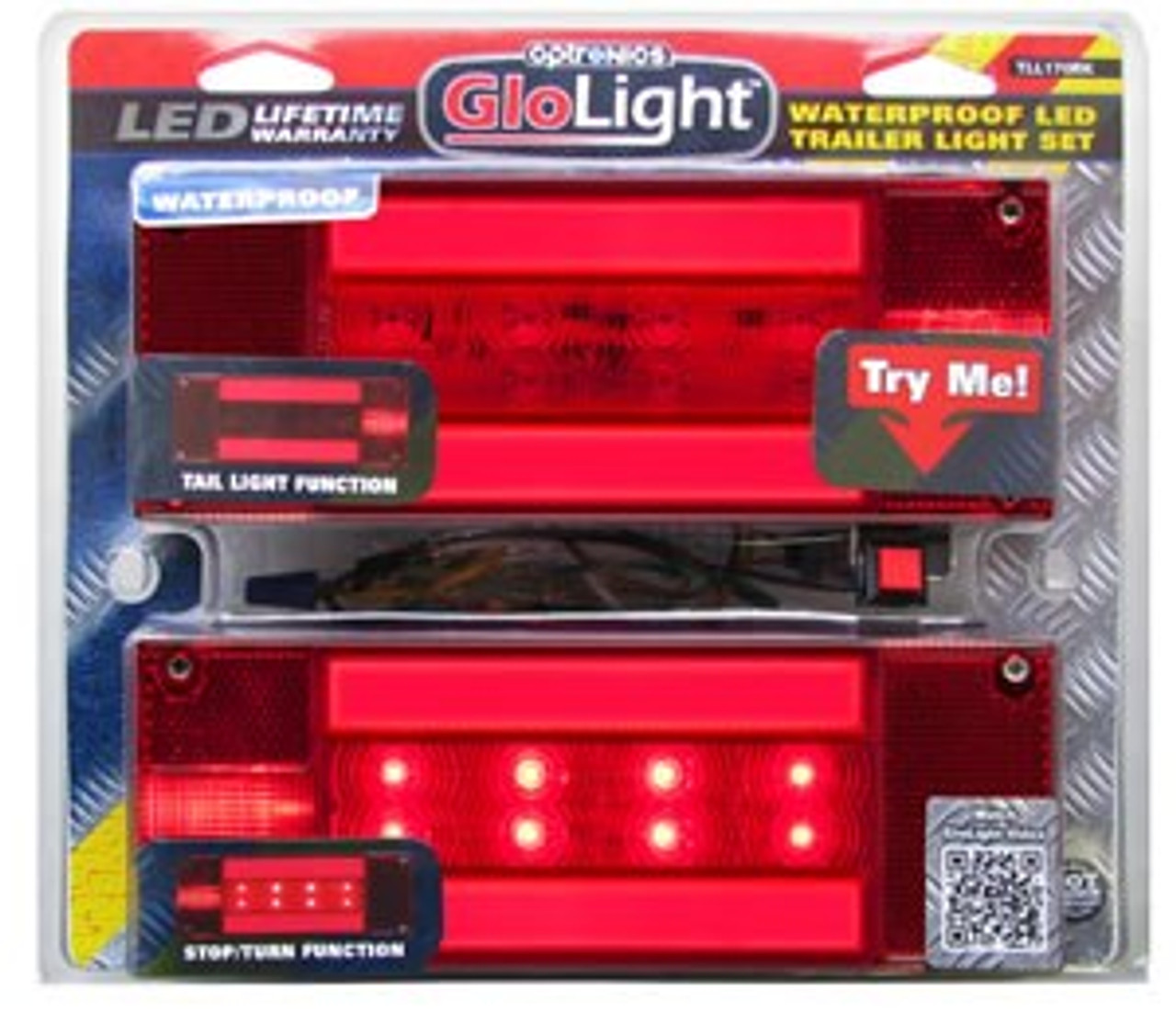 TLL170RK --- Glolight Retangular Sealed LED Red Stop/Turn/Tail Light Kit