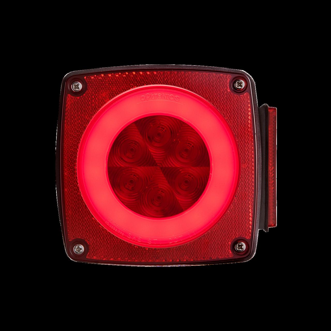 STL108RBP --- Glolight RH Square Sealed LED Red Stop/Turn/Tail Light
