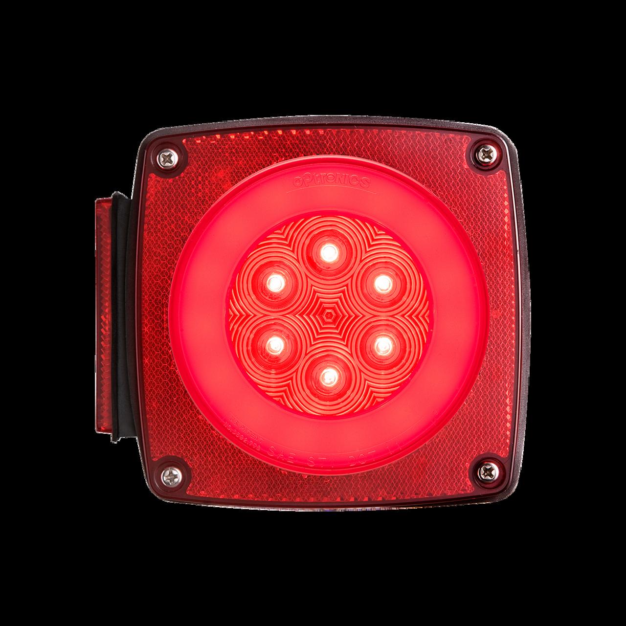 STL109RBP --- Glolight LH Square Sealed LED Red Stop/Turn/Tail Light