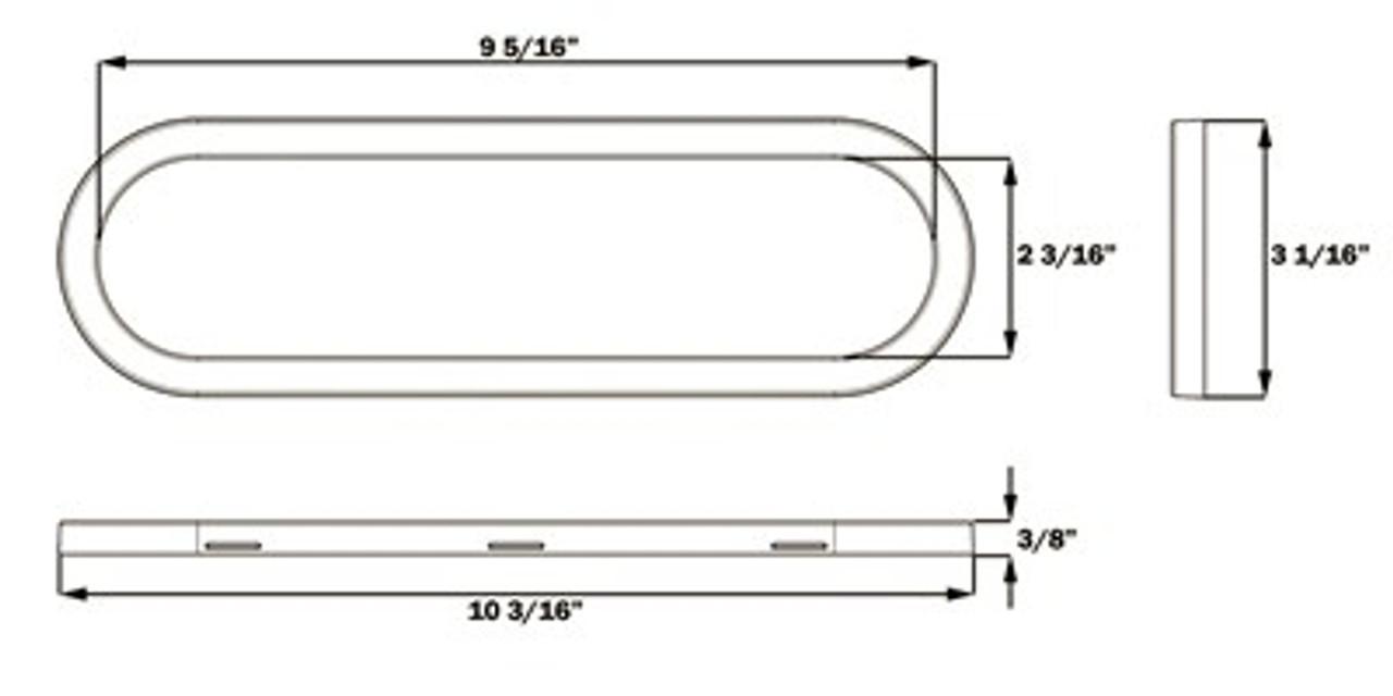 STL68KRBP --- Oval Sealed LED Stop/Turn/Tail with Clear Back-Up Light Kit