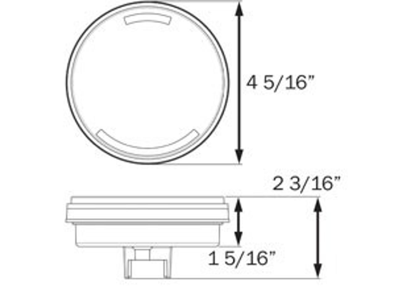 STL101KRBP --- Glolight Round Sealed LED Red Stop/Turn/Tail Light Kit