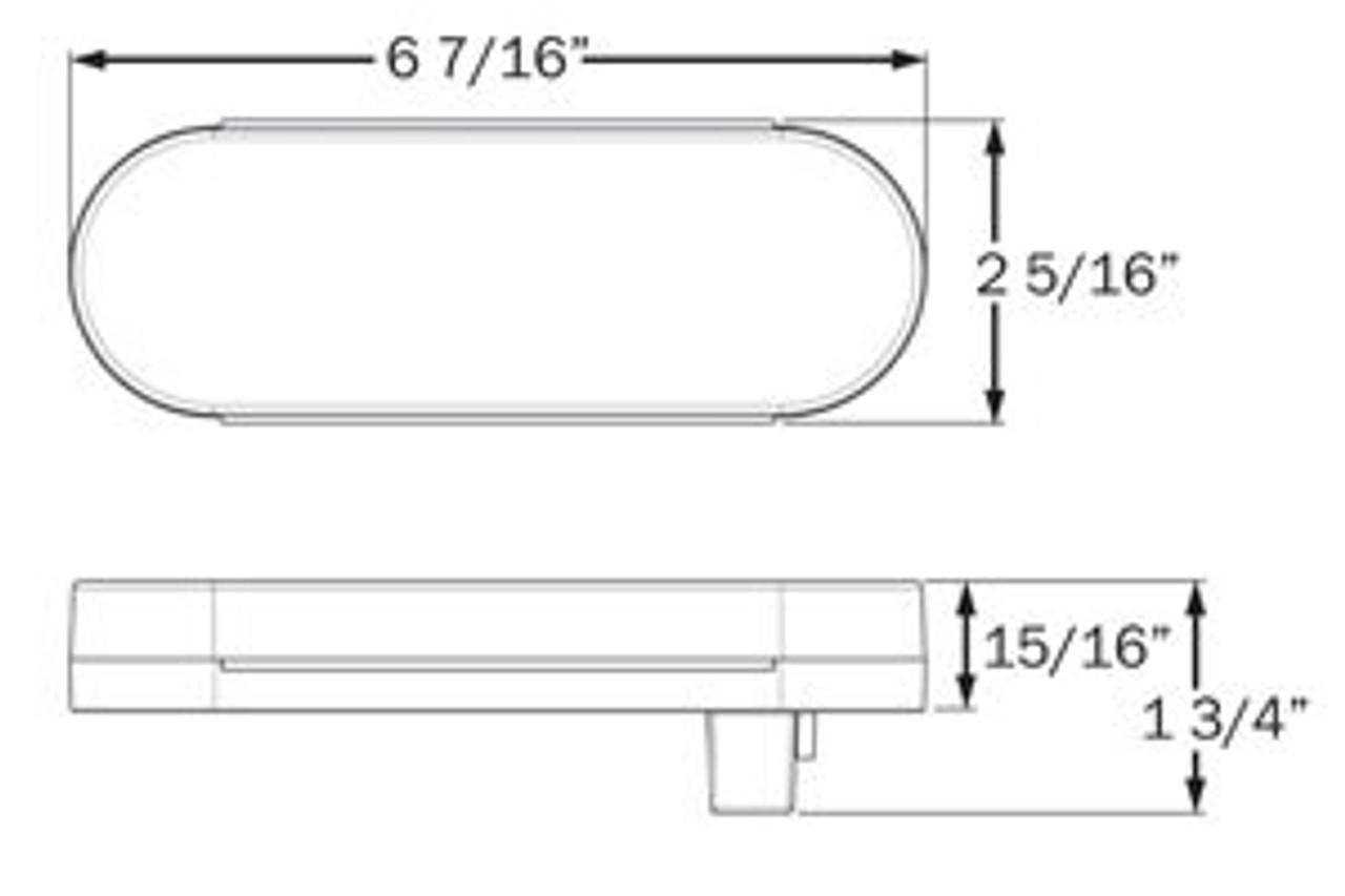 STL111KACBP --- Glolight Oval Sealed LED Amber Parking and Rear Turn Signal Kit