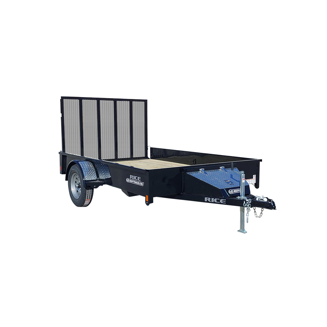 R612S --- 6' x 12' Trailer with Ramp Gate and Solid Sides