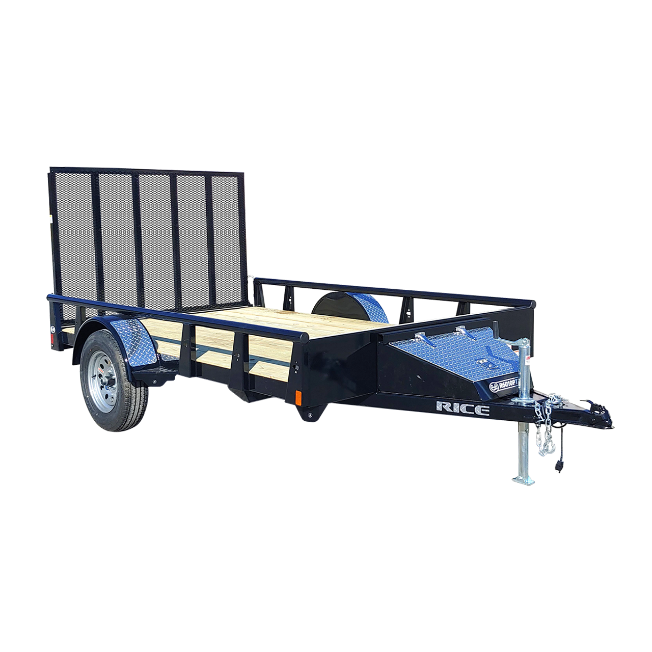 R712PT --- 7' x 12' Trailer with Ramp Gate and Pipe Top
