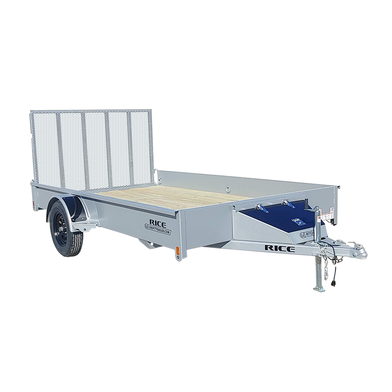 R712S --- 7' x 12' Trailer with Ramp Gate and Solid Sides