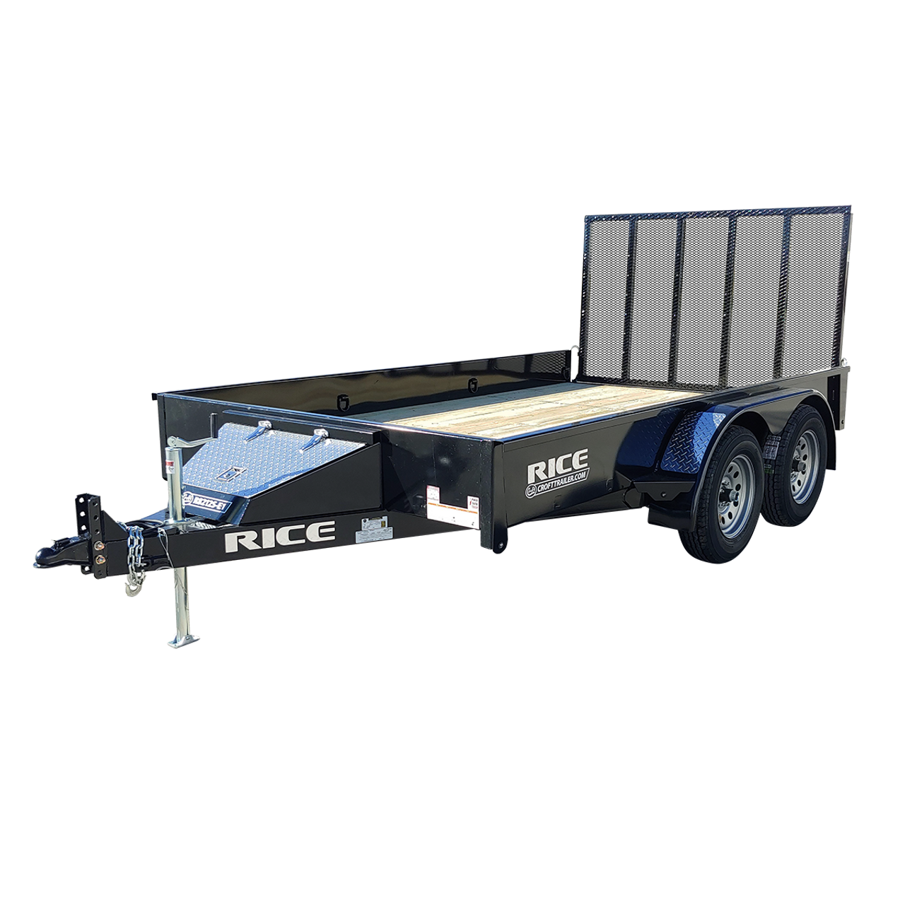 "R8212S-E1 --- 82"" x 12' Tandem Trailer with Ramp Gate and Solid Sides"