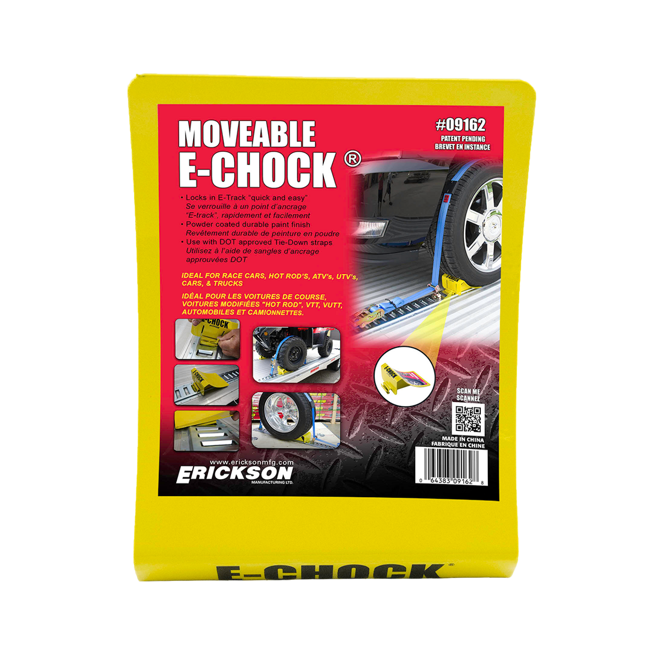 9162 --- E-Track Movable Wheel Chock
