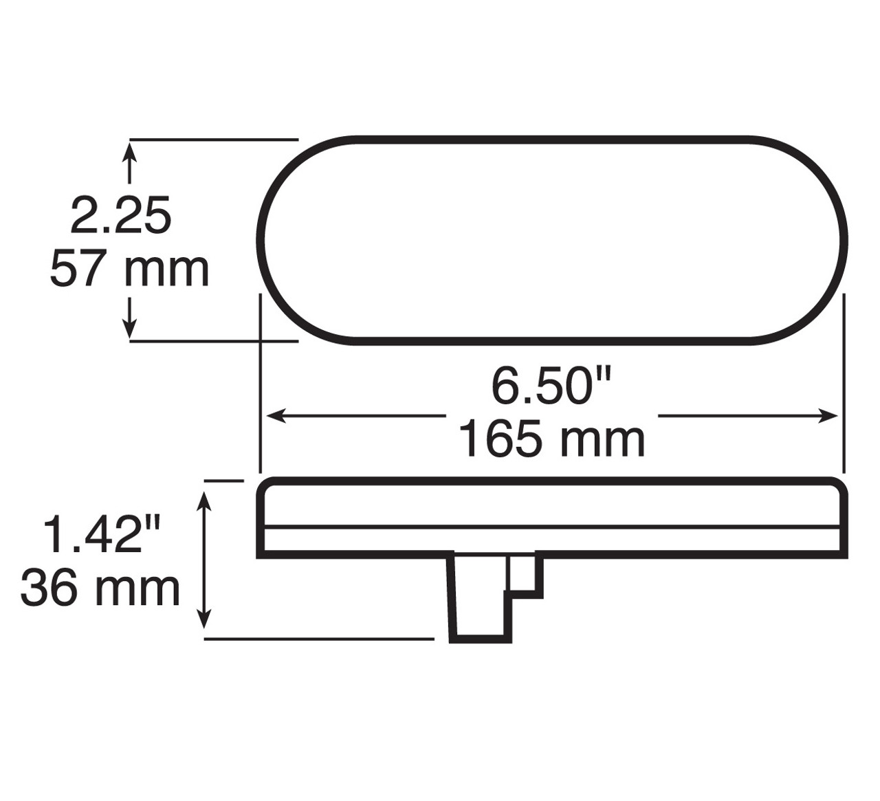 LED870C10 --- Touch Light - Oval Sealed LED Interior/Dome Light